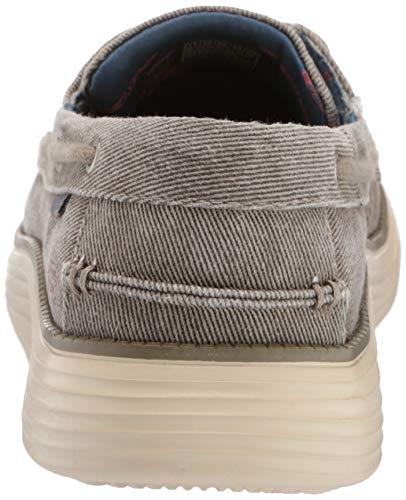 Skechers Men's Status 2.0-Lorano Moc Toe Canvas Deck Shoe Moccasin