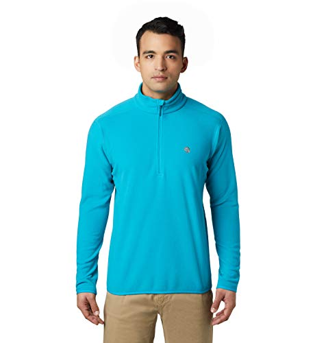 Mountain Hardwear Macrochill 1/2 Zip Men's Classic Fleece Pullover for Hiking, Backpacking, Climbing, and Everyday - Traverse - Large