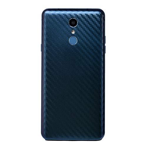 qichenlu [Glänzend Stahlblau 2 Stück Rückseite Folie für LG G6,Folie Hinter für LG G6,Carbon Erscheinungsbild Matt Klebefolie Kratzfest Hinten Schutz,Hülle Fre&lich Weich Back Film für LG G6