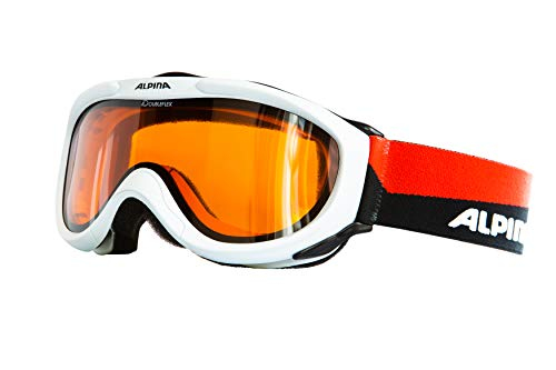 ALPINA Skibrille FreeSpirit, White-BlackRed, OneSize
