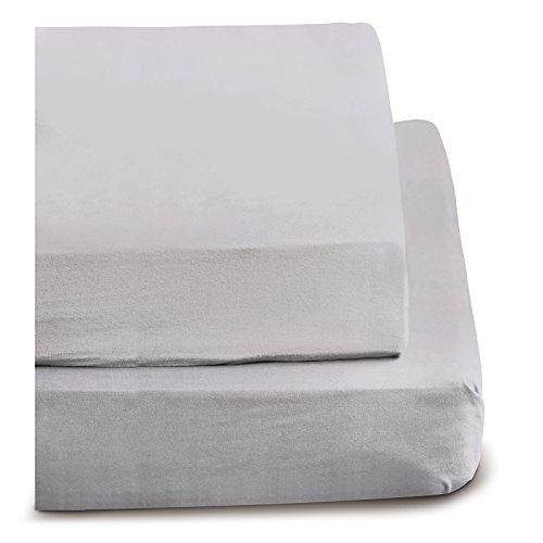 Irisette Feinbiber Haustuch Bettlaken Merkur (nebel, 150x250 cm)