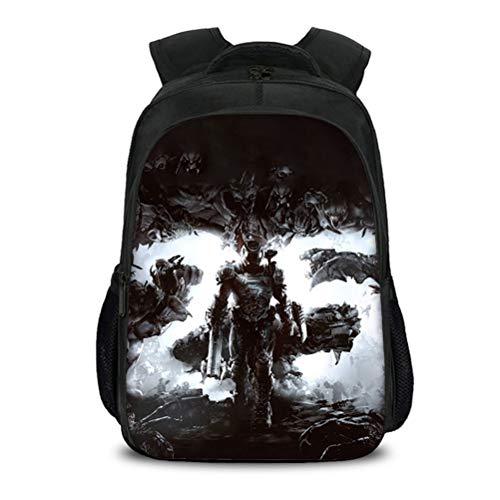 Doom Eternal Equipaje Mochila de Alta Capacidad Adecuada para niños y niñas Diseño de Moda de Moda Daypack Compacto y liviano Bolso Escolar Bolso Casual para Mujeres y Hombres