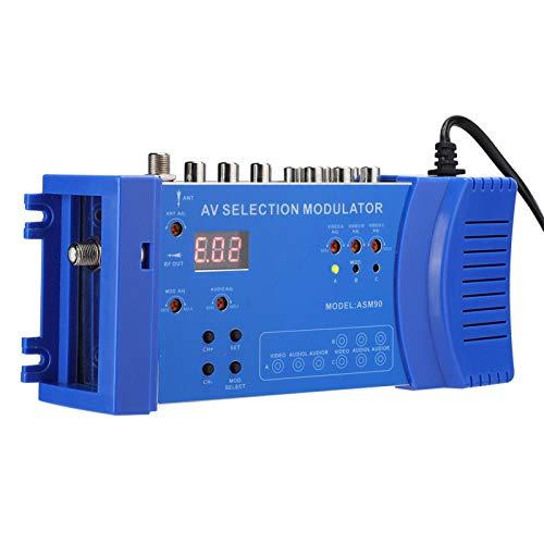 Modulador RF Modulador RF Compacto Audio Video TV Convertidor RHF UHF Amplificador de señal AC 100-240V