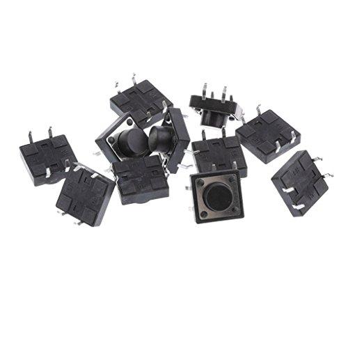 Milageto 50 Piezas Interruptor Táctil 12x12x7mm Momentáneo PCB Pulsador SPST para