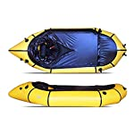 JNWEIYU Inflatable Kayak,Standard Single Boat Without Pulp, Can Be Used for White Water Level 3 Adventure Rafting… 7 LARGE LOAD: This kayak can bear 150 kg weight, enough for 1 persons operate, enough space and convenient to use. Made of high quality thicken PVC material which has 0.3mm thickness, can resist tear, high strength, not easy to be damage. INFLATABLE DESIGN: The inflatable design make it convenient to store when not use, double valve help to finish inflating quickly.