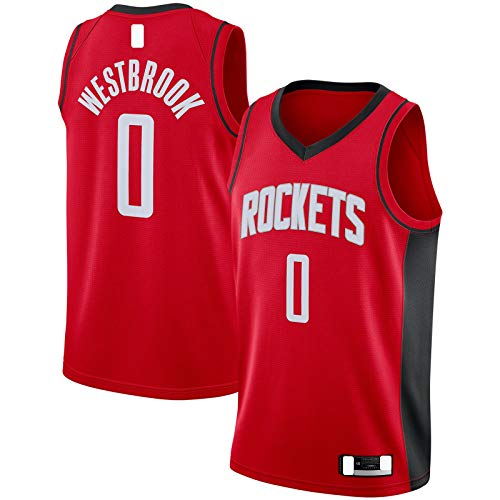 HFHDF Camiseta de malla de baloncesto bordado #0 Swingman Jersey Rojo - Edición Icono