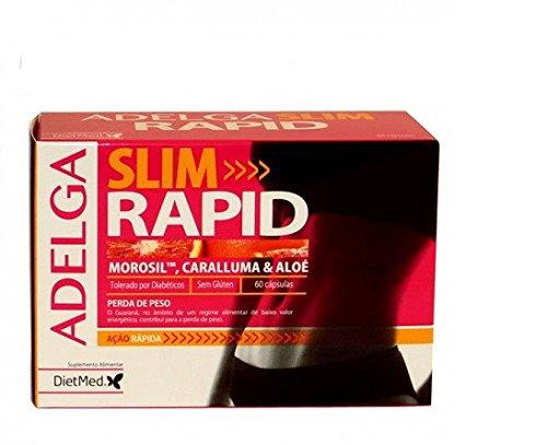 Quemagrasas abdominal y de caderas Adelga slim rapid 60 C DIETMED pierda peso y volumen, rápidamente, control de peso, potente a base de morosil caralluma,aloe efecto saciante acelera el metabolismo