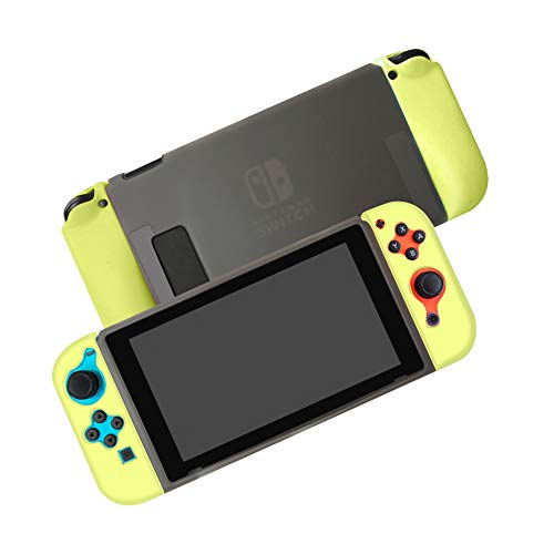 JTlong88 Funda protectora acoplable compatible con Nintendo Switch Separable Crystal Clear Funda protectora compatible con Nintendo Switch Console y Joy-Con...