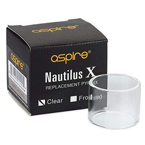 Genuino Aspire Nautilus X vidrio de reemplazo (color claro, 2ml), Sin Tabaco y Sin Nicotina