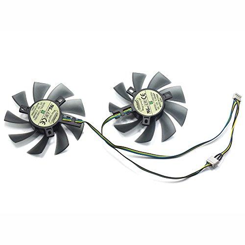 inRobert Ventilador de doble rodamiento de bolas, 85 mm de diámetro, 40 x 40 x 40 mm, ventilador de refrigeración para MSI Gigabyte Sapphire Zotac XFX Mining GPU (1 par)