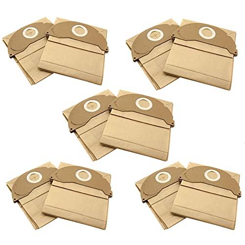 vhbw 10x bolsa compatible con Kärcher A2004, A2024 PT, A2054 ME, A2064 PT, SE 2001, SE 3001 aspiradora - papel, marrón