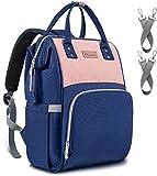 Upsimples Baby Wickeltasche Rucksack Wickelrucksack,mit USB-Ladeanschluss und 2 Kinderwagengurten für Mama