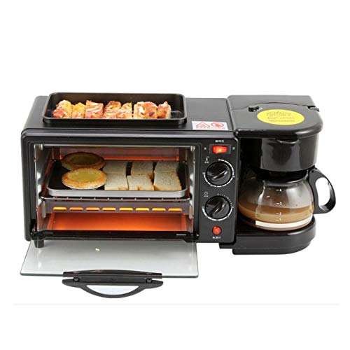 DYHZ 3 in 1 Lazy Sandwich Breakfast Machine Multifunctional Electric Breakfast Machine Small Home Coffee Maker Frying Pan Mini Oven Gift Household Bread Pizza Oven Frying Pan