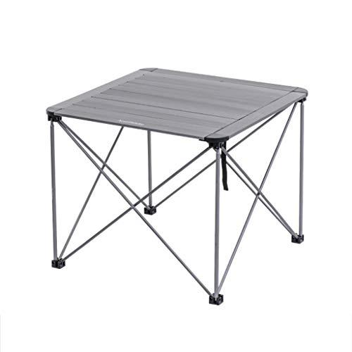 Dongy Table portative, Table Pliante de Pique-Nique de Barbecue de Petite Table extérieure Petite Table de Stockage de Table de thé de Table dinante (Color : B, Size : 69.5 * 69.5 * 56cm)
