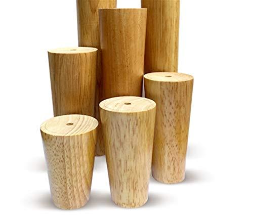 KISAD Patas de Muebles Patas de Mesa de Repuesto Conjunto de 4 Muebles de Madera FeetTapeed Clear Roble Roble Mesa de Roble Piernas de Cama (Size : 25cm/9.8in)