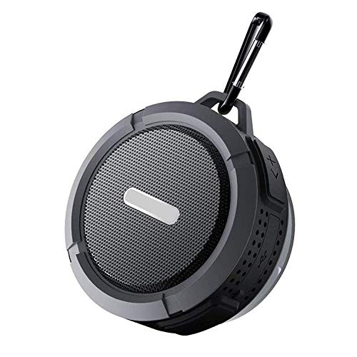 Mini Bluetooth Speakers, Wireless Waterproof Speakers with Super Bass,Shower Speaker with Suction Cup & Sturdy Hook, Compatible with iOS, Android, PC & iPad (Black)