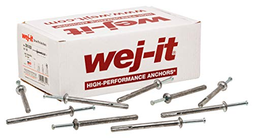 Wej-It Nail-It DN1412 Drive Anchor, Zamac Alloy, Zinc Plated Finish, Meets GSA FFS-325 Group V Type 2 Class 2 Specifications, 1/4