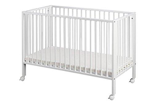 Tissi Kinderbett, faltbar Buche weiß Größe 60x120 cm