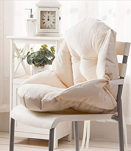 GLITZFAS Stuhlauflage Dicke Sitzauflage Niedriglehner Auflage Sitzkissen Niederlehner Stuhlkissen (48x40cm,Beige)