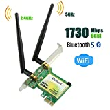 Ziyituod PCIe WiFi Card, Wireless 1730Mbps Bluetooth 5.0 PCI Express Network Adapter, Wi-Fi