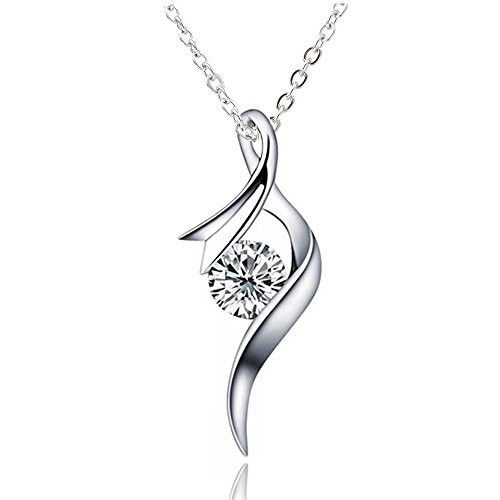 Women Jewelry 925 Silver Pendant Be Necklace Amethyst Zirconic Pendant With A Soft, Elegant Ribbon And A Simple Charms Necklace