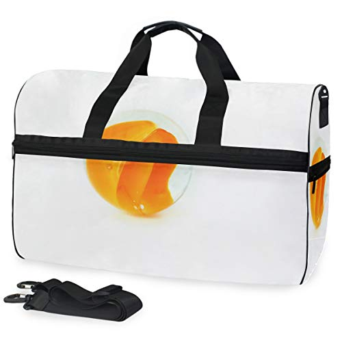 Marmorkugeln Orange Large Travel Duffel Tote Bag Weekend Overnight Travel Bag Gym Bag Fitness Sports Bag with Shoes Compartment
