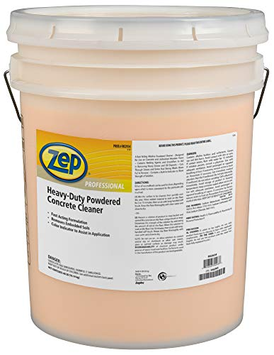 Product Image of the Zep Professional Heavy-Duty Powdered Concrete Cleaner, 40Lb. Bucket, Biodegradable, Dissolves Quickly and Removes Tough, Embedded Soils (R02934), Orange