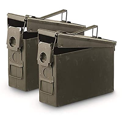 Surplus U.S. Military Waterproof M19A1 .30 Caliber Ammo Can, 2 Pack, Used