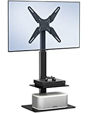FITUEYES テレビスタンド 19~55インチ対応 壁寄せテレビスタンド 高さ調節可能 ラック回転可能 ブラック