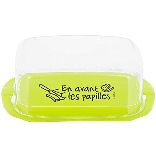 Promobo - Beurrier Gradué En Gramme Avec Couvercle Inscription Fun Pour Beurre Doux Ou Demi Sel Vert