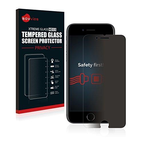 Savvies Protector Cristal Templado Privacidad Compatible con iPhone 7 / iPhone 8 Protector Pantalla Vidrio - Dureza 9H, Anti-Espía