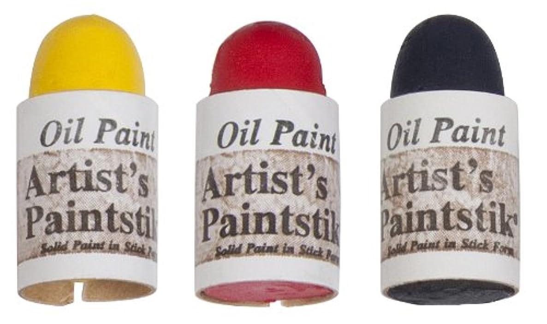 Jack Richeson Shiva Oil Paintstik, Primary Colors, Set of 3