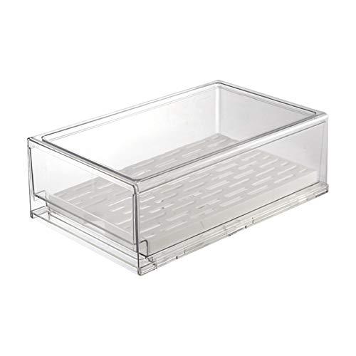 Cajón organizador transparente para frigorífico tipo cajón para congelador, encimera de 33,9 cm de longitud para la cocina en casa