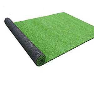 Artificial Turf Grass Lawn, Realistic Synthetic Grass Mat, Indoor Outdoor Garden Lawn Landscape for Pets,Fake Faux Grass Rug with Drainage Holes 3 FT x15 FT
