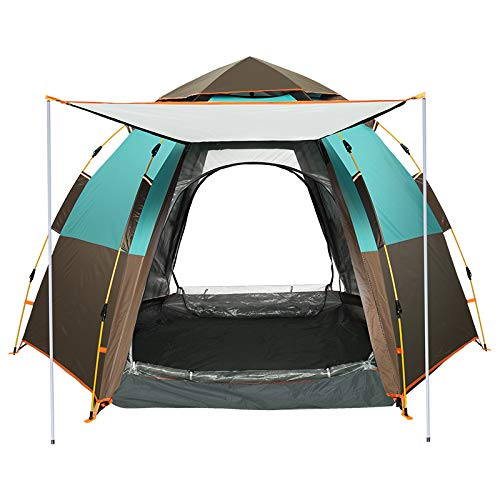 DYX 3-4 people hexagonal tent outdoor automatic rain thickened 2 people camping tents outdoor camping equipment