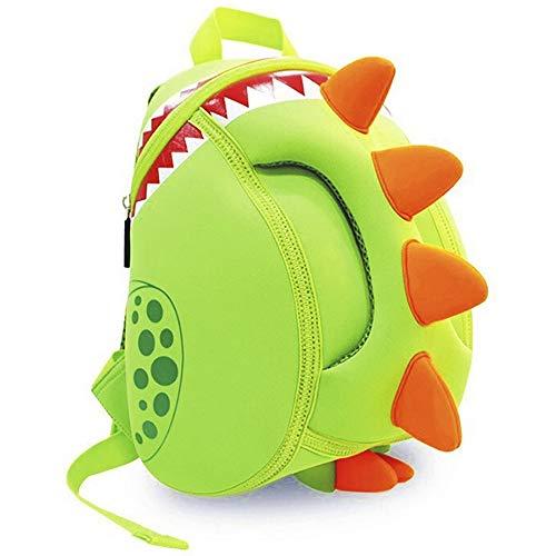 OFUN - Mochila de dinosaurio para niños de 2 a 5 años, 12 pulgadas, mochila para niños y niñas para preescolar, bolsa de juguetes de dinosaurio y bolsa de escuela de dibujos animados