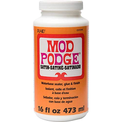 Mod Podge Waterbase Sealer, Glue and Finish, Satin, 16 Ounce