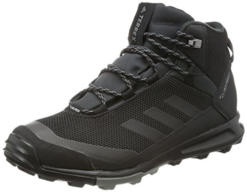 adidas Mens Terrex Tivid MID CP Walking Shoe, Core Black/Core Black/Grey, 43 1/3 EU