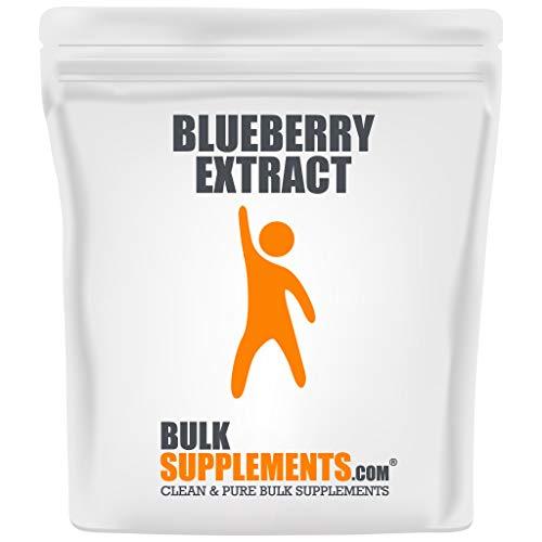 BulkSupplements.com Blueberry Extract - Wild Blueberries - Blueberry Supplement - Blueberry Extract for Baking - Smoothie Powder (1 Kilogram)
