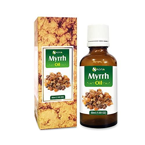 Mirra (Mirra de Commifora) 100% natural puro sin diluir aceite portador sin cortar, 50 ml