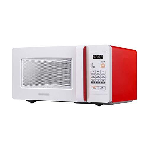 JYDQB Horno microondas con Dial Timer, Acero Inoxidable, de 1000 vatios, la Memoria de la Placa giratoria-Horno de microondas con Sensor Inteligente, Easy Clean Interior (Color : Red)