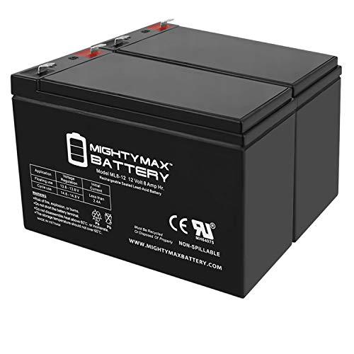 Mighty Max Battery 12V 8Ah SLA Battery for Razor MX350, MX400 Dirt Bike - 2 Pack Brand Product