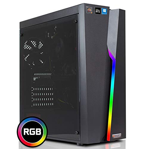 dcl24.de [11465] Gaming PC Bolt RGB AMD Ryzen 7-2700X 8x3.7 GHz - 480GB SSD & 2TB HDD, 32GB DDR4, RTX2070 8GB, WLAN, Windows 10 Pro Spiele Computer Rechner