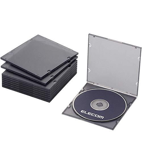 エレコム DVD BD CDケース プラケース スリム 1枚収納 10枚パック クリアブラック CCD-JPCS10CBK