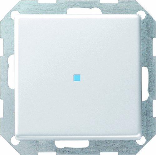 Gira Tastschalter 0124201 senkr. Kontroll E22 reinweiss, 250 V, Weiß