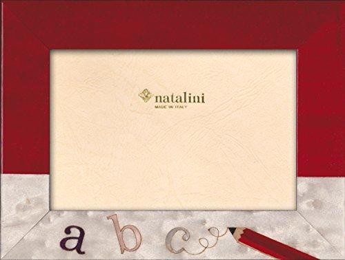 Natalini Marquetry fotoram tillverkad i Italien, tulpanträ, röd, 10 cm x 6 cm