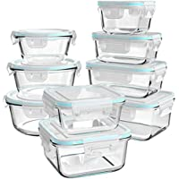 18-Piece Ailtec Glass Food Storage Containers with Lids