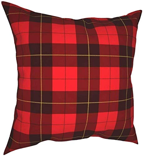 Wallace Tartan Scottish Plaid Objects Throw Pillow Covers Cotton Polyester Cushion Cover Cases Pillowcases Sofa Home Decor 18 X 18 Inch