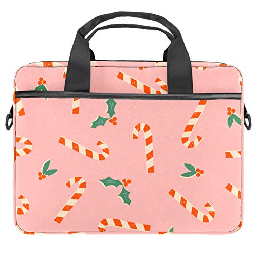 Laptop Tote Bag Computer Rucksack Compatible with Chromebook, MacBook Pro Christmas Candy Cane