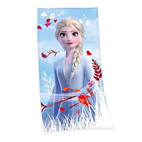 Herding Disney's Die Eiskönigin 2 Velourstuch, Baumwolle, blau, 75x150cm